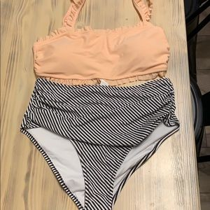 High wasted bathing suit